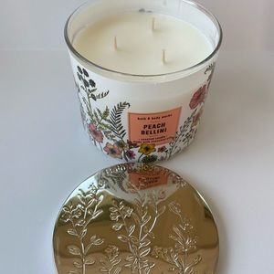 Bath & Body Works Accents - Bath & Body Works Peach Bellini 3 Wick Candle